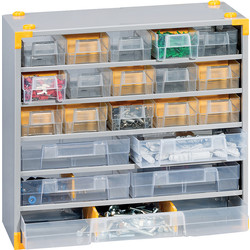 Barton Steel Small Parts Compact Cabinet 295 x 300 x 140mm - 33 Pieces - 64993 - from Toolstation