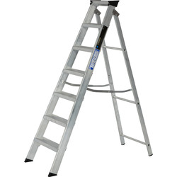Youngman Youngman Industrial Builders Step Ladder 7 Tread SWH 2.59m - 65061 - from Toolstation