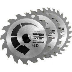 Toolpak Toolpak TCT Circular Saw Blades 165 x 30mm - 65088 - from Toolstation
