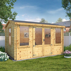 Mercia Mercia Grizedale Log Cabin - 19mm 4m x 3m - 65115 - from Toolstation
