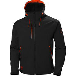 Helly Hansen Helly Hansen Chelsea Evolution Softshell Jacket Small Black - 65136 - from Toolstation