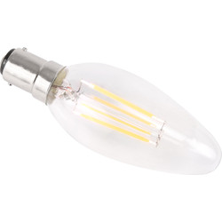 Meridian Lighting LED Filament Candle Lamp 4W SBC 450lm A++ - 65191 - from Toolstation