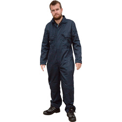 "Dickies Dickies Redhawk Stud Front Coverall 46"" Navy - 65223 - from Toolstation"