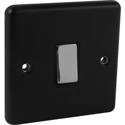 Wessex Electrical Wessex Matt Black Chrome Switch 1 Gang 2 Way - 65260 - from Toolstation