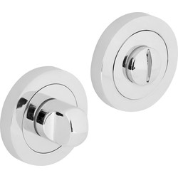 Hiatt Designer Bathroom Thumbturn & Release Set Polished Chrome - 65278 - from Toolstation