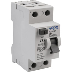 Axiom Axiom Incomer Devices RCD 30mA - 25A - 65443 - from Toolstation