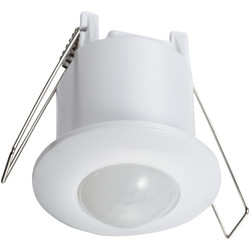 Zinc 360° Ceiling PIR Single Sensor Flush - 65562 - from Toolstation