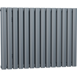 Cassellie Double Panel Horizontal Designer Radiator 633 x 826mm Anthracite 3320Btu - 65578 - from Toolstation