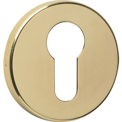 Urfic Euro Escutcheon Set Polished Brass - 65621 - from Toolstation
