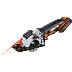 Worx Worx WX523 20V MAX Li-Ion 85mm Compact Cordless Circular Saw 1 x 2.0Ah - 65709 - from Toolstation