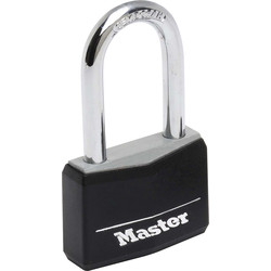 Master Lock Master Lock Black Covered Aluminium Padlock 40 x 6 x 38mm LS - 65743 - from Toolstation