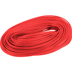 PVC Cable Sleeving 100m 3mm Red - 65759 - from Toolstation