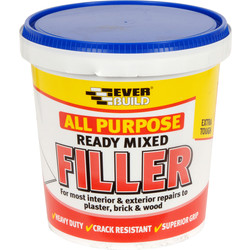 Everbuild All Purpose Ready Mixed Filler 1kg Tub - 65808 - from Toolstation