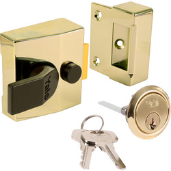 Yale Deadlocking Nightlatch 85 Narrow Brasslux