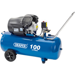 Draper Draper 100L 2200W V-Twin Air Compressor 230V - 65843 - from Toolstation