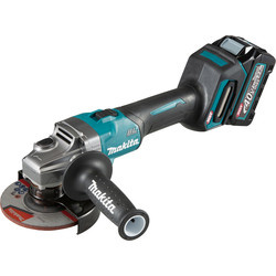 Makita Makita XGT 40V Max Angle Grinder 125mm 1 x 2.5Ah - 65894 - from Toolstation