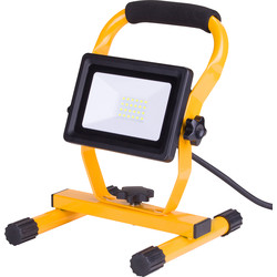 240V LED Portable Work Light IP65 20W 1500lm - 65919 - from Toolstation