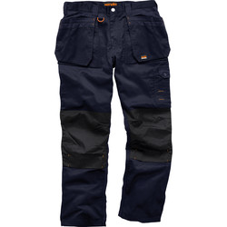 "Scruffs Scruffs Worker Plus Trousers 34"" R Navy - 65946 - from Toolstation"
