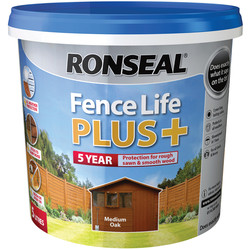 Ronseal Ronseal Fence Life Plus 5L Medium Oak - 65975 - from Toolstation
