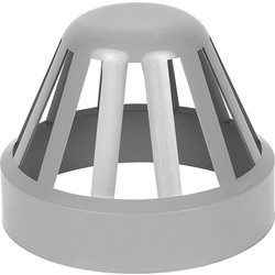 Aquaflow 110mm Terminal Vent Grey - 66048 - from Toolstation