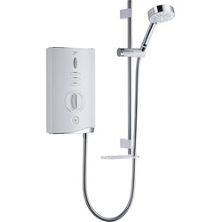 Mira Mira Sport Max Electric Shower White / Chrome 10.8kW - 66076 - from Toolstation