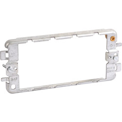 MK MK Grid Plus Fixing Plate (Yoke) 4 Gang - 66088 - from Toolstation