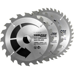 Toolpak Toolpak TCT Circular Saw Blades 190 x 30mm - 66184 - from Toolstation