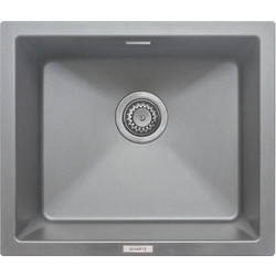 Granite Composite Single Bowl Undermount Kitchen Sink Grey - 66247 - from Toolstation