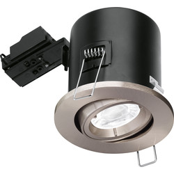 Enlite Enlite Adjustable Fire Rated GU10 Downlight EN-FD102SN Satin Nickel - 66253 - from Toolstation