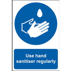 Centurion 'Use Hand Sanitiser Regularly' Wall Sign 200 x 300mm - 66264 - from Toolstation