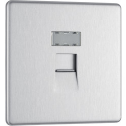 Screwless Flat Plate Brushed S/S RJ45 Outlet