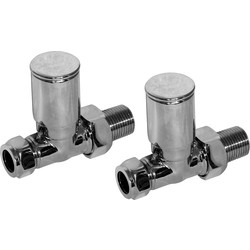 Modern Towel Radiator Valve Straight - 66312 - from Toolstation