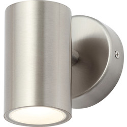 Leto Integrated LED Stainless Steel Up or Down Light IP44 3W 250lm - 66346 - from Toolstation