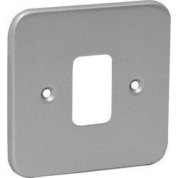 Grid Front Plate Metal 1 Gang - 66350 - from Toolstation
