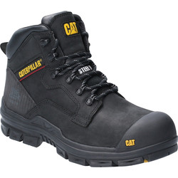 CAT Caterpillar Bearing Safety Boots Black Size 8 - 66370 - from Toolstation