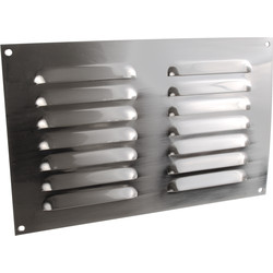 "Metal Vent 9"" x 6"" Satin Nickel - 66388 - from Toolstation"