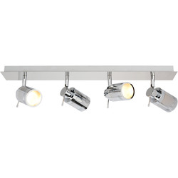 Spa Lighting Bora IP44 GU10 LED 4 Bar Spotlight 4 x 4W 370lm - 66400 - from Toolstation