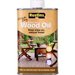 Rustins Rustins Quick Dry Exterior Wood Oil 500ml - 66521 - from Toolstation