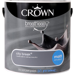 Crown Crown Breatheasy Matt Emulsion 2.5L City Break - 66524 - from Toolstation