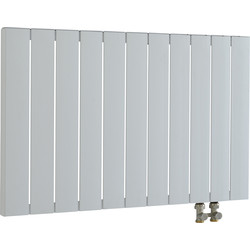 Pitacs Aeon Smyrna Horizontal Designer Radiator 600 x 1115mm Btu 3907 White Aluminium - 66526 - from Toolstation