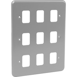 MK MK Grid Plus Metal Front Plate 9 Gang - 66541 - from Toolstation