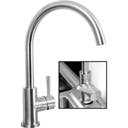 Highlife Alva Stainless Steel Mono Mixer Kitchen Tap  - 66648 - from Toolstation