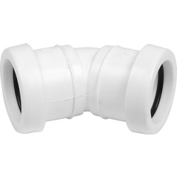 Aquaflow Push Fit Bend 32mm 135° White - 66673 - from Toolstation