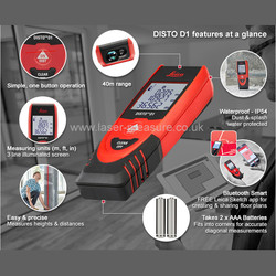Leica Disto D1 Laser Distance Measurer