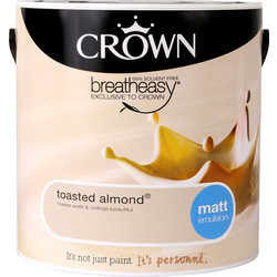 Crown Crown Breatheasy Matt Emulsion 2.5L Toasted Almond - 66785 - from Toolstation