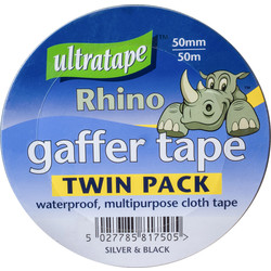 Ultratape Heavy Duty Cloth Duct Tape Twin Pack 50mm x 50m - 66869 - from Toolstation
