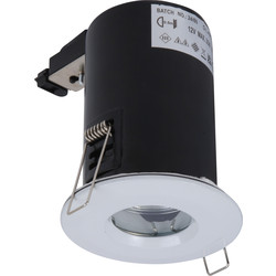 Meridian Lighting Low Voltage Fire Rated Cast IP65 Downlight MR16 Satin Chrome - 66947 - from Toolstation