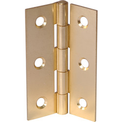 Brass Plated Butt Hinge 75mm - 66967 - from Toolstation