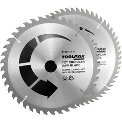 Toolpak Toolpak TCT Circular Saw Blades 250 x 30mm - 67059 - from Toolstation