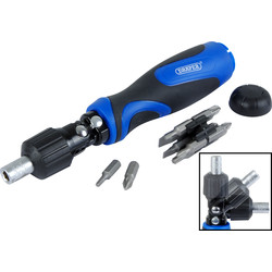 Draper Draper Pivoting Head Ratchet Screwdriver 3 Way - 67077 - from Toolstation